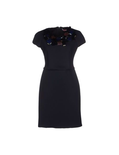 MSGM | Женское Чёрное Короткое Платье