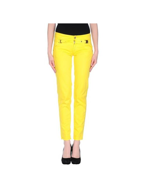 Versace Jeans Couture | Женские Жёлтые Повседневные Брюки