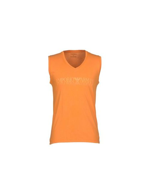 Emporio Armani | Мужская Оранжевая Футболка