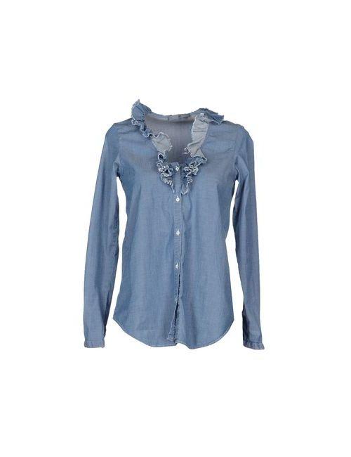 Mu | Женская Синяя Джинсовая Рубашка