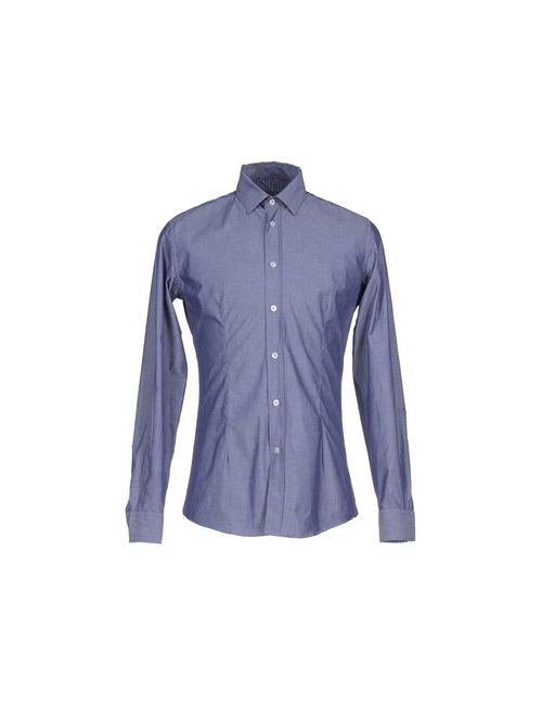 Grey Daniele Alessandrini | Мужская Синяя Джинсовая Рубашка