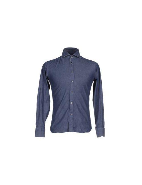 EREDI LIBERO | Мужская Синяя Джинсовая Рубашка