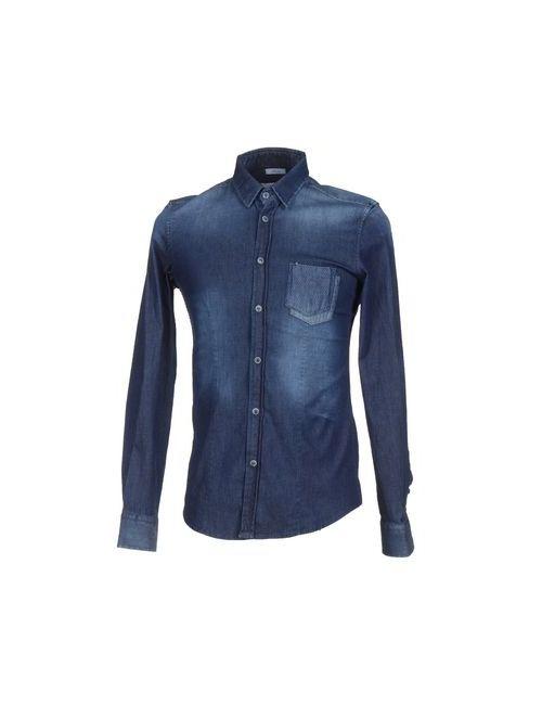 GEAN.LUC | Мужская Синяя Джинсовая Рубашка