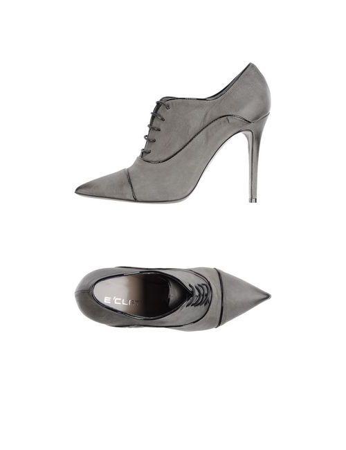 E'Clat | Женская Серая Обувь На Шнурках