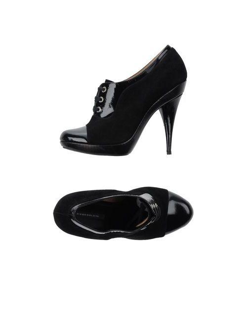 Diego Dolcini | Женская Чёрная Обувь На Шнурках