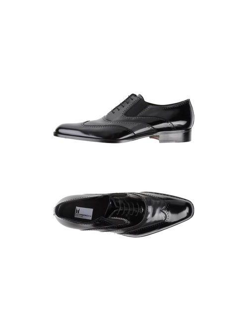 Moreschi   Мужская Чёрная Обувь На Шнурках