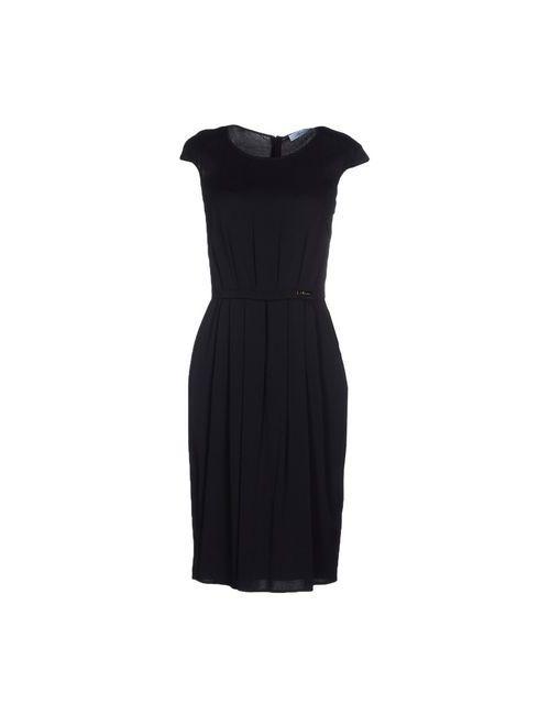 Blumarine | Женское Чёрное Платье До Колена