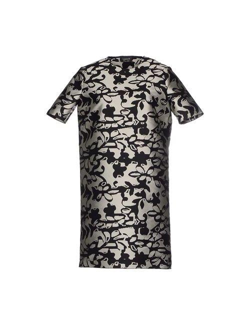 Lanvin | Женское Серое Короткое Платье
