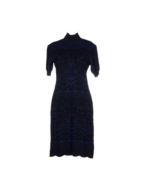 Alberta Ferretti | Женское Синее Короткое Платье