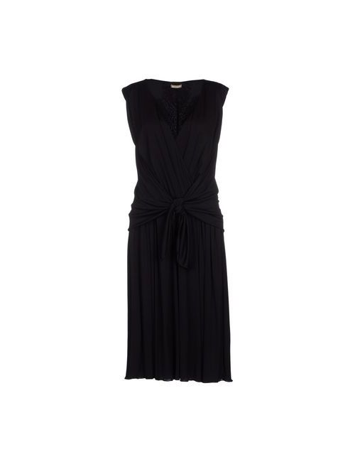 Galliano | Женское Чёрное Платье До Колена