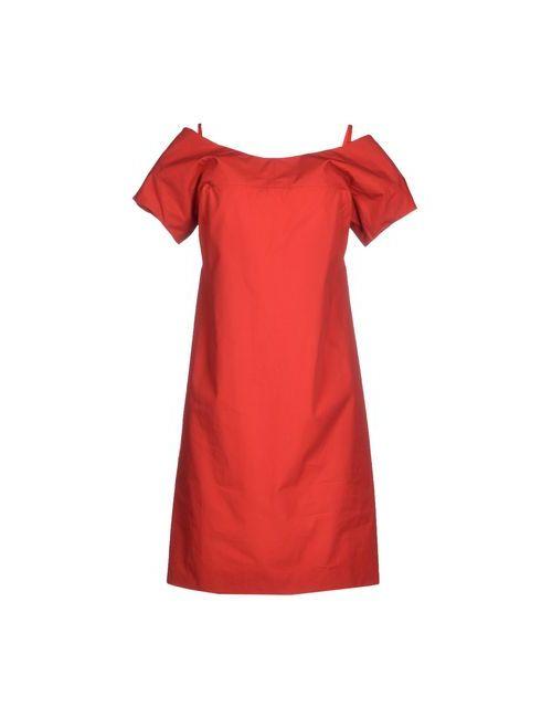 Jil Sander | Женское Красное Короткое Платье
