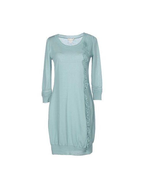 Scervino Street | Женское Бирюзовое Платье До Колена