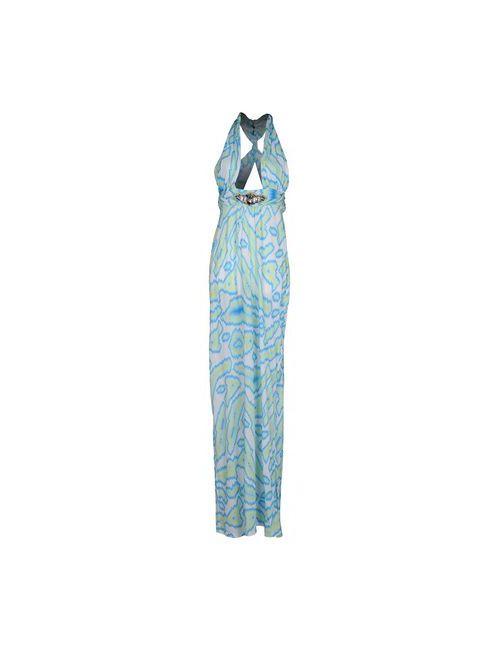 Matthew Williamson Escape | Женское Бирюзовое Длинное Платье