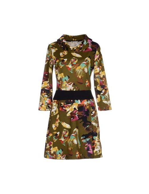 Lavand. | Женское Зелёное Короткое Платье