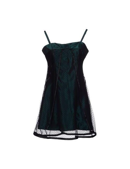 W Les Femmes | Женское Зелёное Короткое Платье