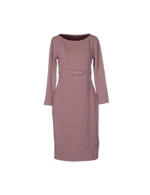 Fornarina | Женское Розовато-Лиловое Платье До Колена