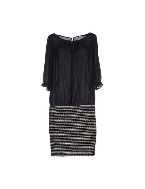 LUCKY LU  MILANO | Женское Чёрное Короткое Платье