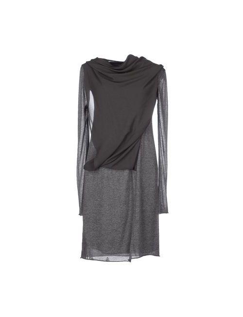 Ekle' | Женское Серое Короткое Платье