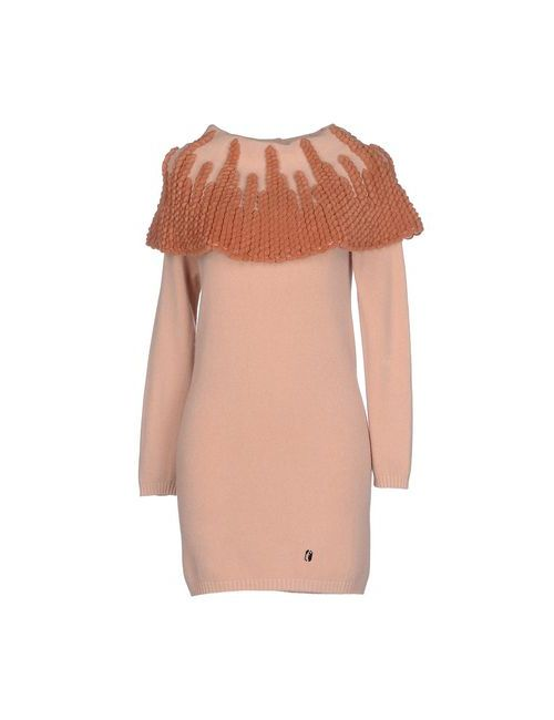 Ferrante | Женское Розовое Короткое Платье