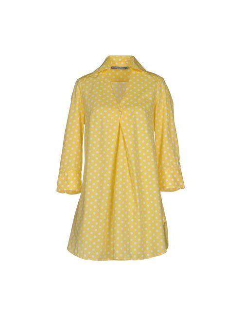 La Camicia Bianca | Женское Жёлтое Короткое Платье