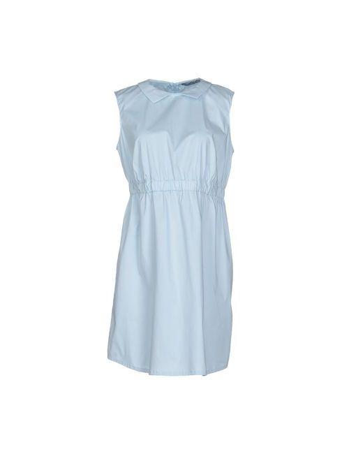 La Camicia Bianca | Женское Голубой Короткое Платье