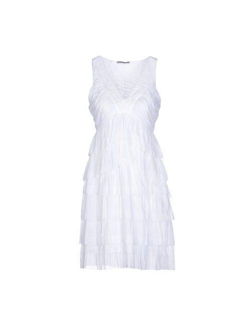 Pinko Grey | Женское Белое Короткое Платье