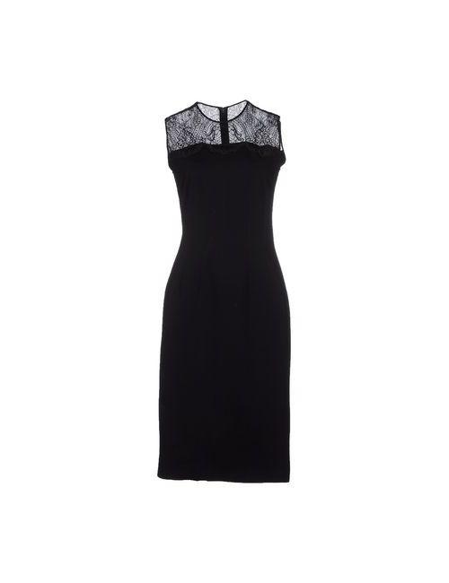 Stella Mccartney | Женское Чёрное Платье До Колена