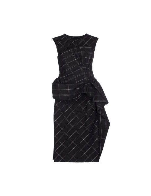 Lanvin | Женское Серое Платье До Колена