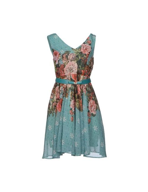 Darling | Женское Бирюзовое Короткое Платье