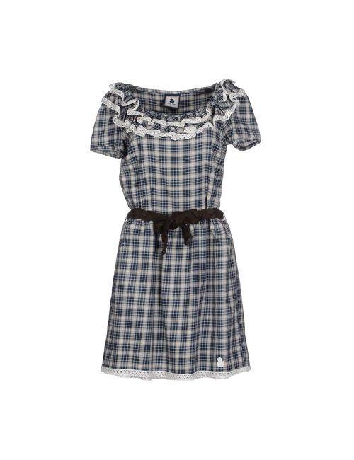 Duck Farm | Женское Цвет Морской Волны Короткое Платье