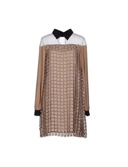Twin-Set Simona Barbieri | Женское Песочное Короткое Платье