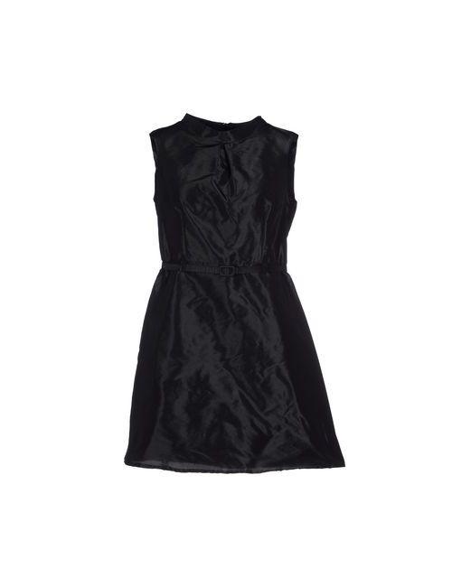 Ekle' | Женское Чёрное Короткое Платье