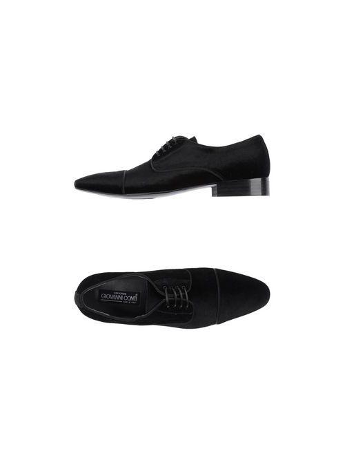 Creazioni Giovanni Conti | Мужская Чёрная Обувь На Шнурках