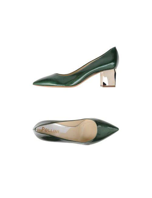 Pollini   Женские Зелёные Туфли