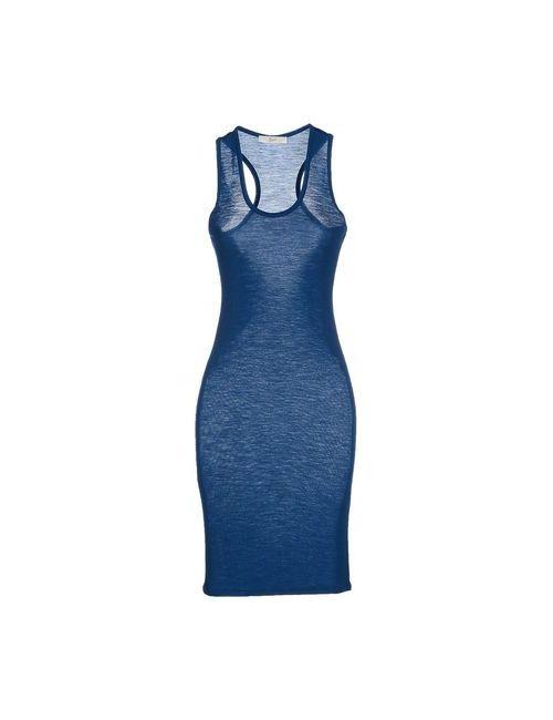 Suoli | Женское Цвет Морской Волны Платье До Колена