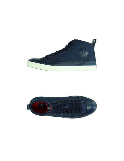 Polo Ralph Lauren | Мужские Синие Высокие Кеды И Кроссовки