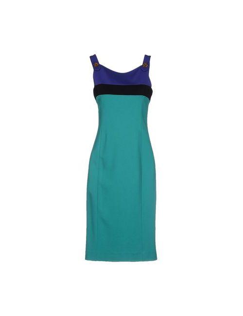 Class Roberto Cavalli | Женское Зелёное Платье До Колена