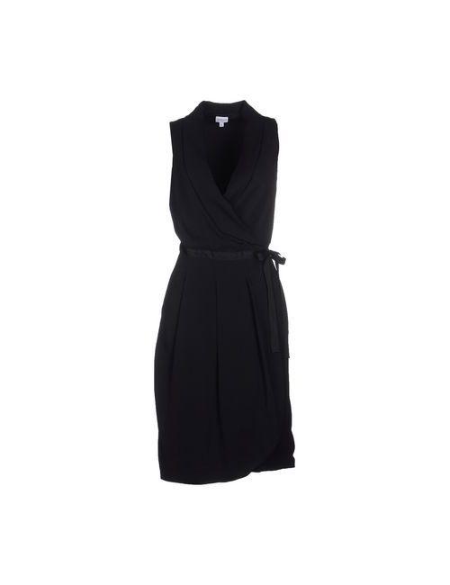 Armani Collezioni | Женское Чёрное Платье До Колена