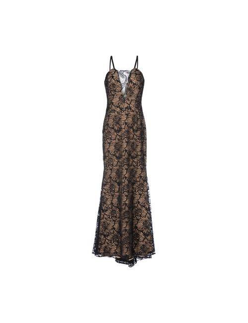 Vera Wang | Женское Чёрное Длинное Платье
