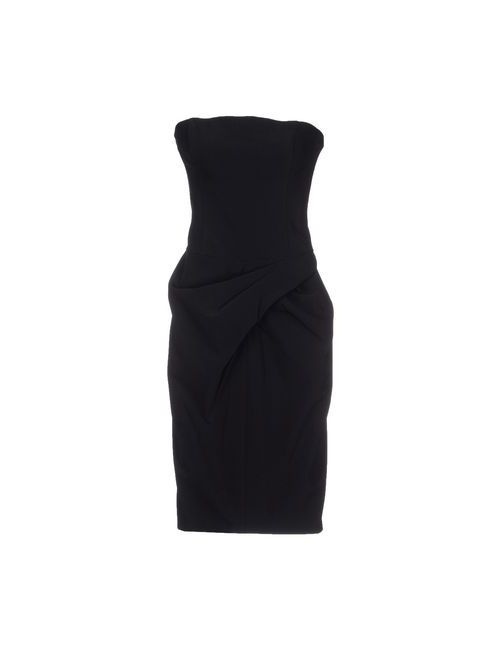 Vera Wang | Женское Чёрное Короткое Платье