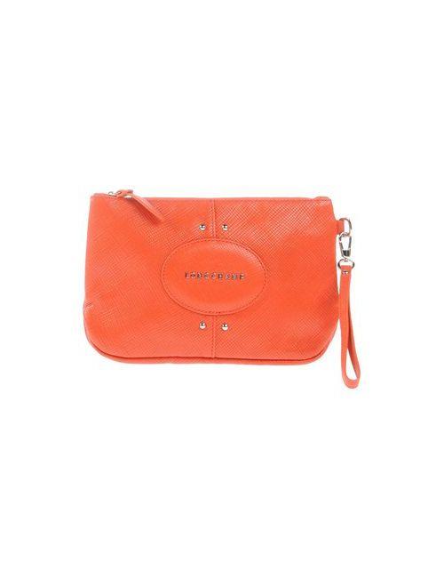 Longchamp | Женская Оранжевая Сумка На Руку