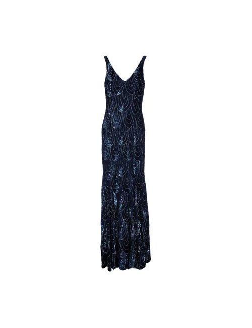 RACHEL GILBERT | Женское Чёрное Длинное Платье