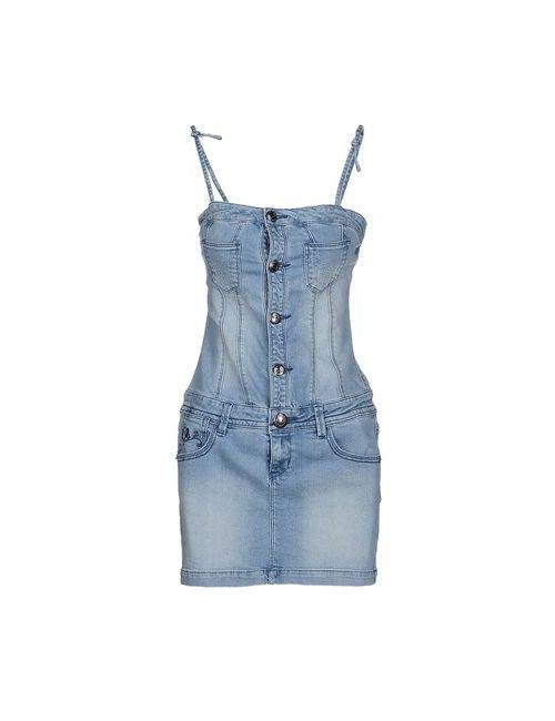 Lois | Женское Синее Короткое Платье