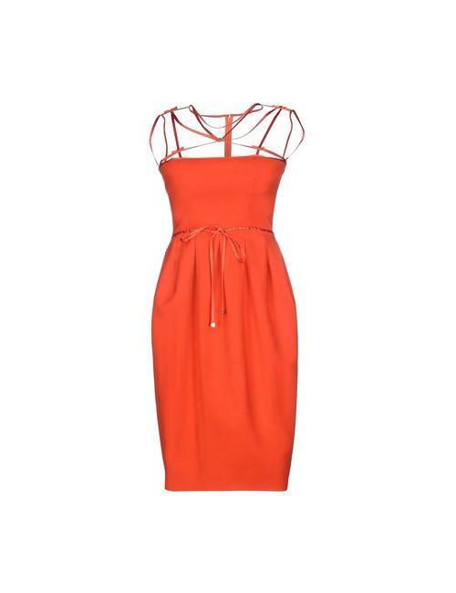Dsquared2   Женское Оранжевое Короткое Платье