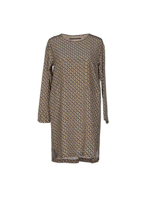 Momoní | Женское Бежевое Короткое Платье