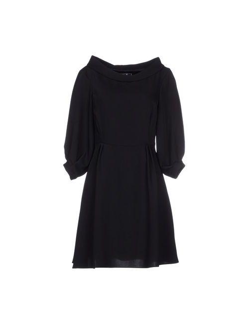List   Женское Чёрное Короткое Платье