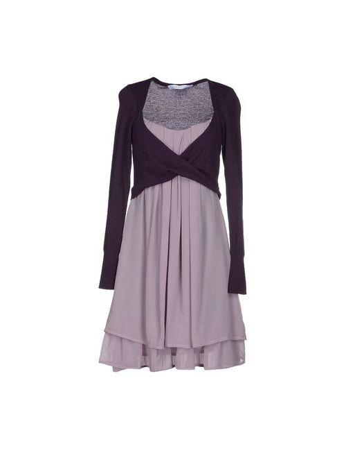 Kaos | Женское Фиолетовое Короткое Платье