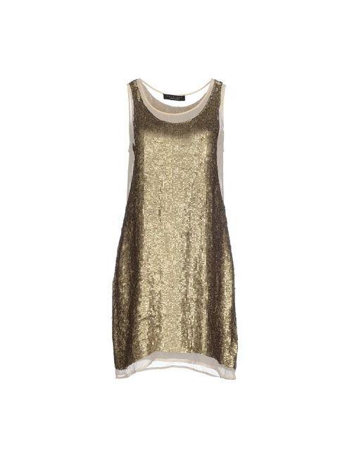 Twin-Set Simona Barbieri | Женское Золотистое Короткое Платье