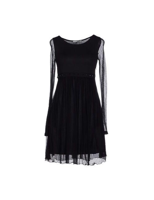 Daniele Alessandrini | Женское Чёрное Короткое Платье