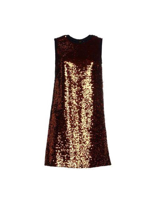 Dolce & Gabbana | Женское Оранжевое Короткое Платье